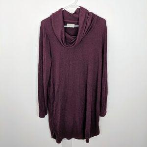 Lou & Grey Soft Cowl Neck Long Sleeve Dress